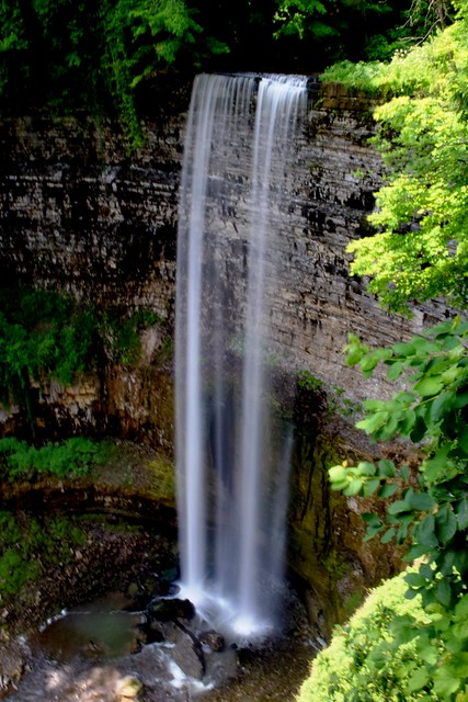 Silky Flowing Water at Tews Falls in Greensville section of Hamilton