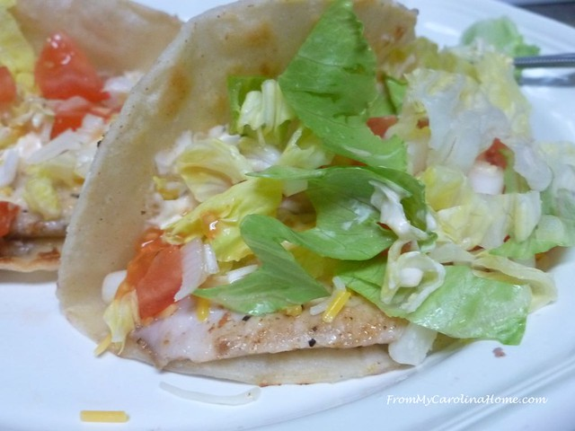 Fish Tacos at FromMyCarolinaHome.com