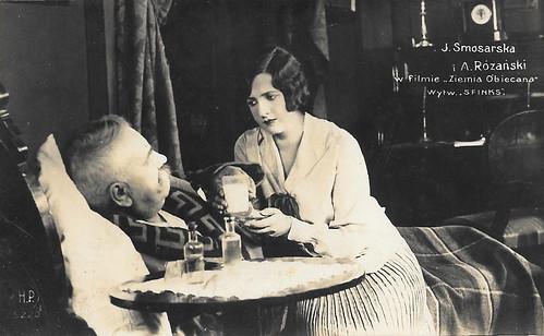 Jadwiga Smosarska and Antoni Rozanski in Ziemia obiecana (1927)