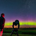 Gazing at Aurora with C8 Scope