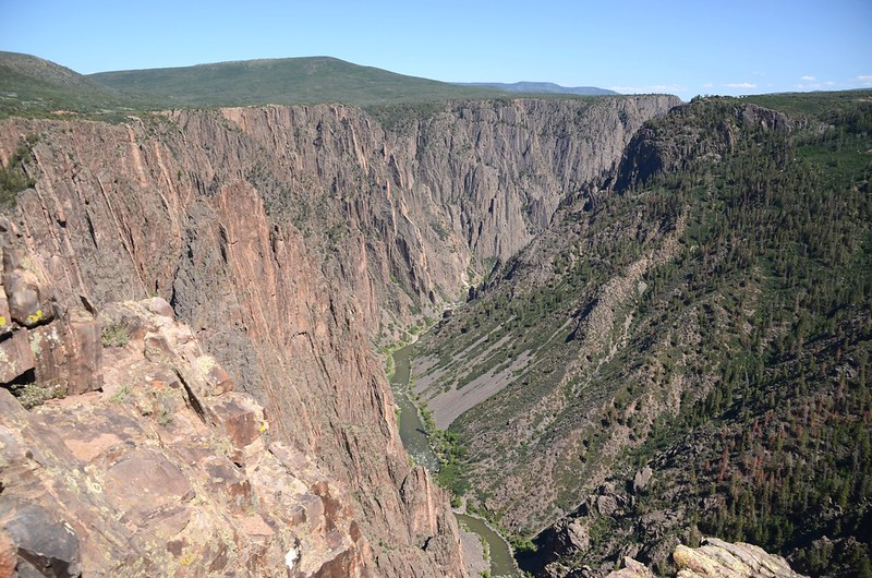 Looking down into Gunnison River from Pulpit Rock Overlook (3)