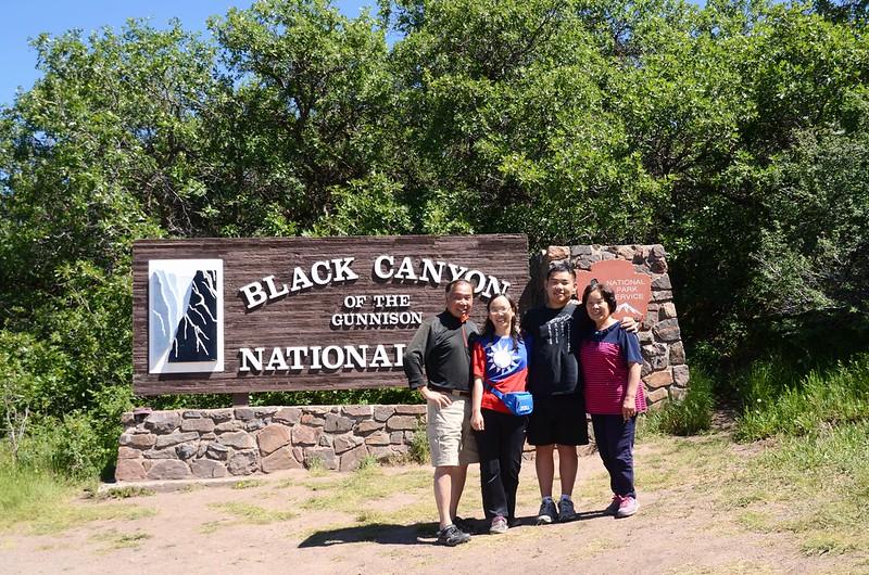Black Canyon National Park South Rim entrance sign (3)