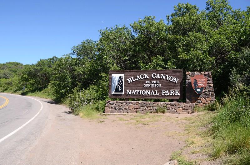 Black Canyon National Park South Rim entrance sign (1)