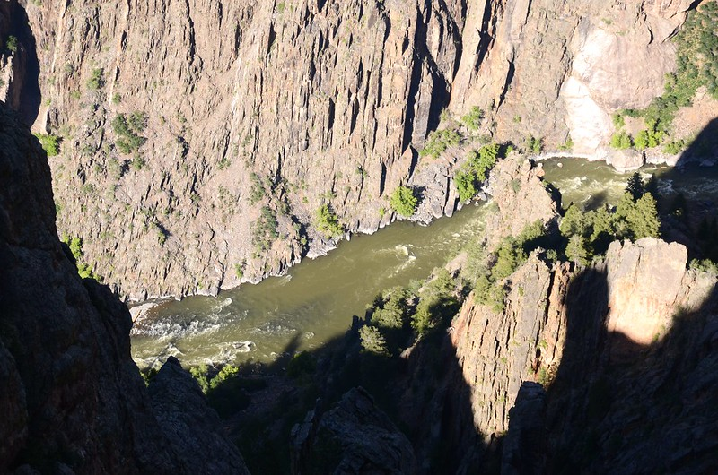 Looking down into Gunnison River from Gunnison Point