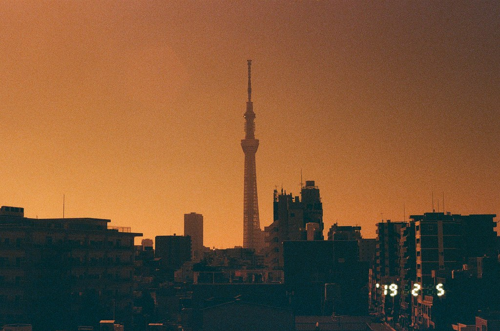 晴空塔  東京スカイツリ Tokyo, Japan / Lomography Redscale / Canon EOS 7