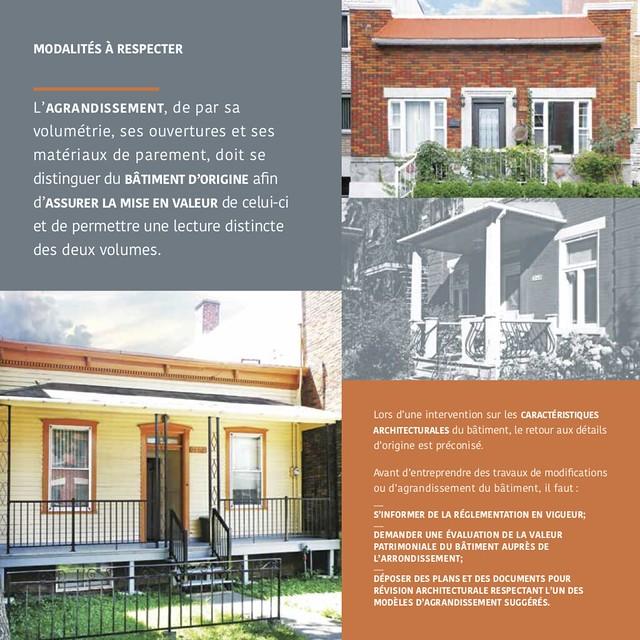 Page 4 du Guide pour les travaux et agrandissements des maisons de type « shoebox » à Villeray–Saint-Michel–Parc-Extension