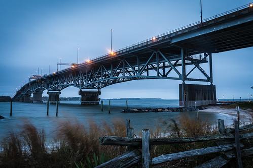 bridge rain sunrise virginia cloudy yorktown gloucesterpoint georgepcolemanmemorialbridge dawn bluehour