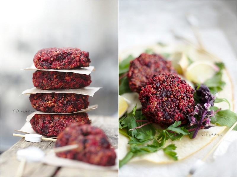 beetroot and quinoa patties