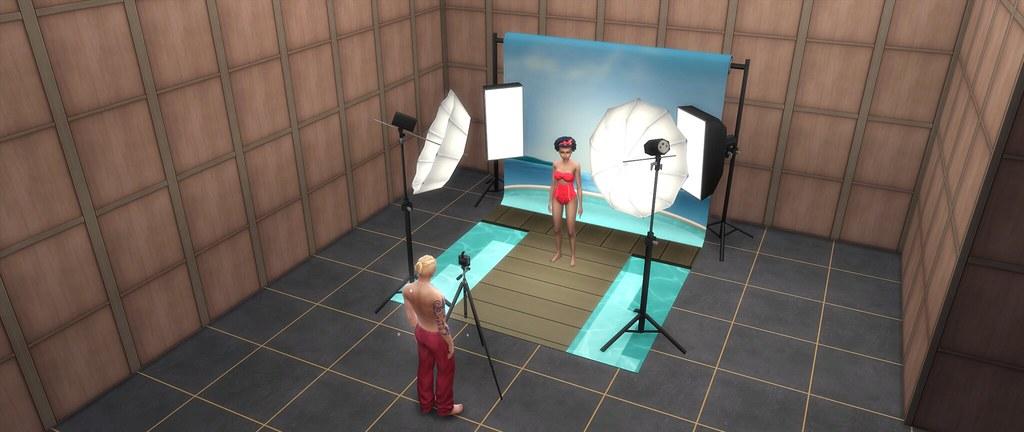 Estudio de fotografía para Los Sims 4