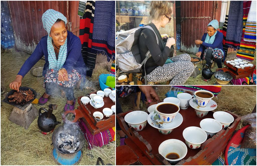 Ceremonia parzenia kawy Etiopia