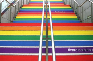Steps at Cardinal Place, Victoria, London....