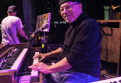 Art Neville performs with The Funky Meters at Crescent City Blues & BBQ Fest 2015. Photo by WWOZ Video.