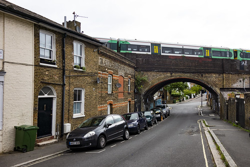 Southern Train Approaches West Norwood Station