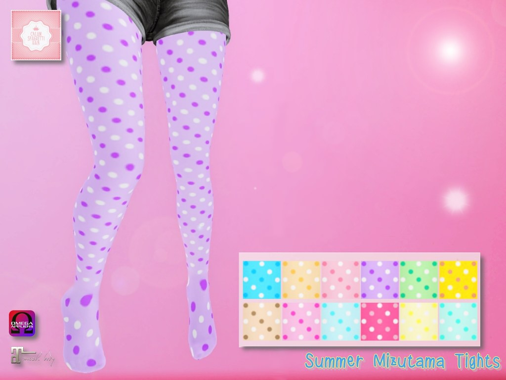 !cream spaghetti hair! Summer Mizutama Tights - TeleportHub.com Live!