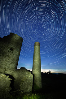 Star trails at the Magpie Mine