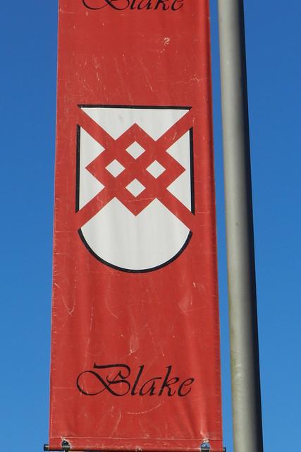 Banderola escudo de armas familia Blake Galway Republica de Irlanda