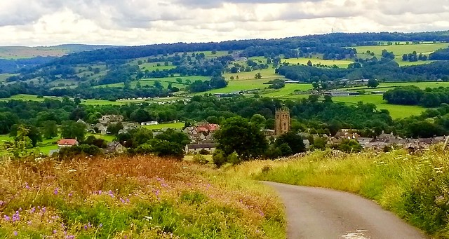 Over looking the village of Youlgreave