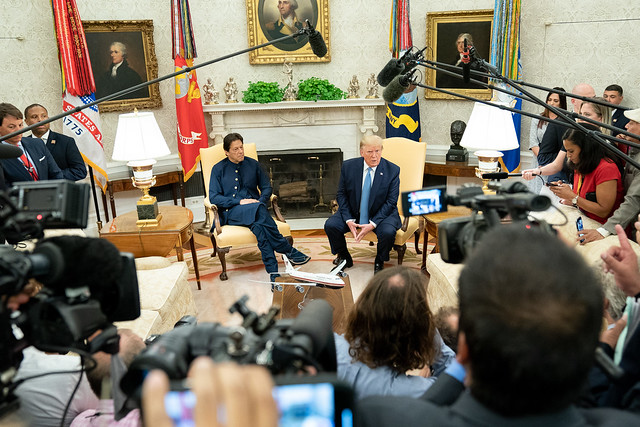 President Trump Meets with the Prime Minister of Pakistan