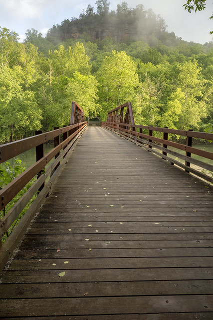 Bridge, Bee Rock Campground, Daniel Boone National Forest, Laurel County, Kentucky 2