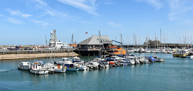 Ramsgate Harbour and Lifeboat Station.