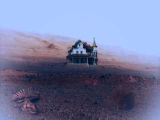 The Martian landscape is rife with Oxen carcasses, tumbleweed, and smart Victorian homes. All signs of life, at least in my book.