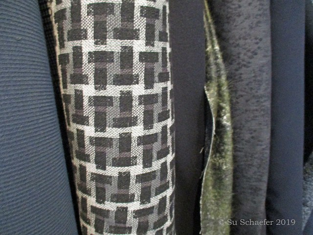 The close shot: Texture of fabrics