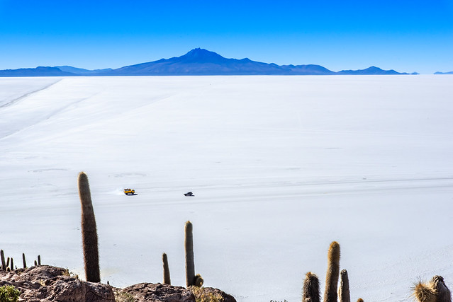 A sea of salt. Salar de Uyuni, Bolivia