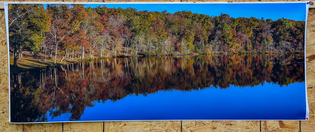 Landscape print on matte canvas with satin varnish, 24x60 taken orginally with a Nikon D810 with Sigma 35mm f1.4 Art lens. Orginal EXIF 1/50, f16, ISO 100