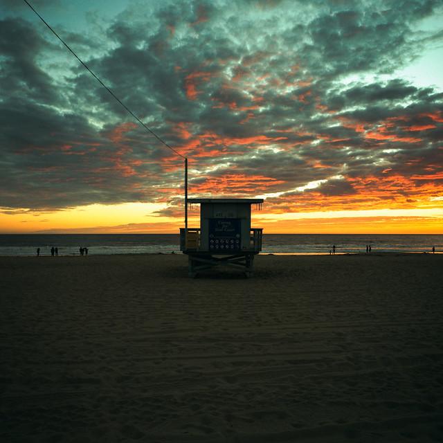 ave 26 sunset (xpro). venice beach, ca. 2018.