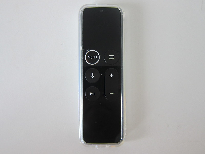 Clear TPU Case For Apple TV Remote - With Apple TV Remote - Front