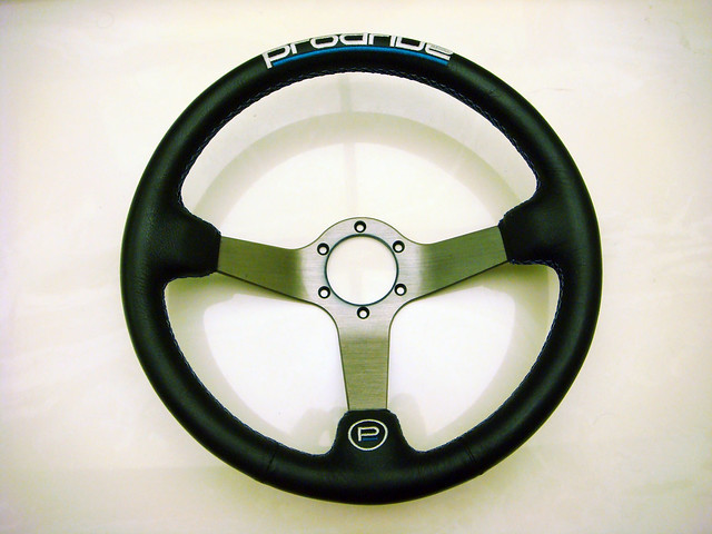 "Polished 370mm Wooden Steel Style Wood Steering Wheel 2.5/"" Deep w//Horn Button"