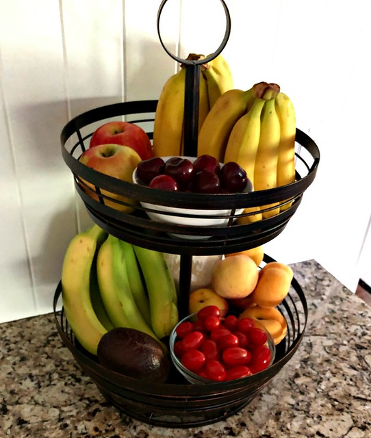 fruit stand with fresh produce for kids' snacks
