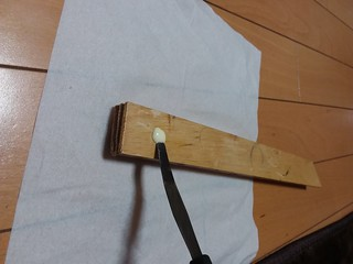glue and spatula