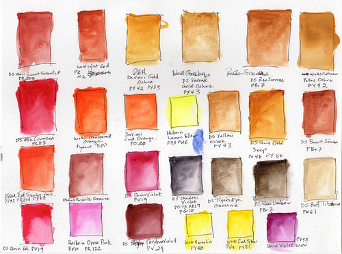 mixing colors, swatches, new palette