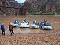 Setting off from Phantom Ranch Beach - AZRA Raft Trip - Grand Canyon