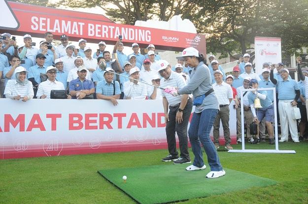 Telkom Gelar Turnamen Golf dan Peduli Pendidikan