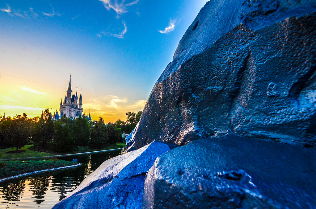 Castle Tomorrowland rocks sunset MK