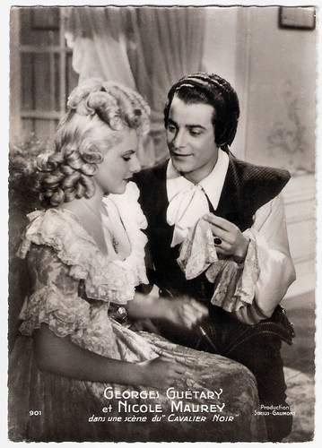 Georges Guétary and Nicole Maurey in Le Cavalier Noir (1945)