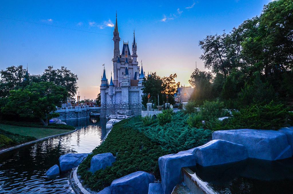 Castle water sunset MK