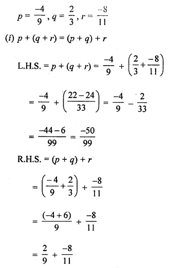 ICSE Mathematics Class 8 Solutions Chapter 1 Rational Numbers Check Your Progress Q11