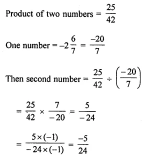 Maths Questions for Class 8 ICSE With Answers Chapter 1 Rational Numbers Check Your Progress Q4