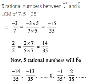 Maths Questions for Class 8 ICSE With Answers Chapter 1 Rational Numbers Check Your Progress Q10