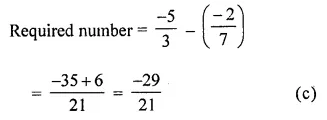 ICSE Class 8 Maths Book Solutions Free Download Pdf Chapter 1 Rational Numbers Objective Type Questions Q16