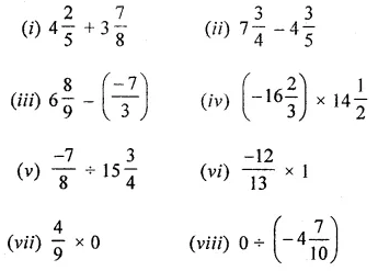 ICSE Mathematics Class 8 Solutions Chapter 1 Rational Numbers Check Your Progress Q1