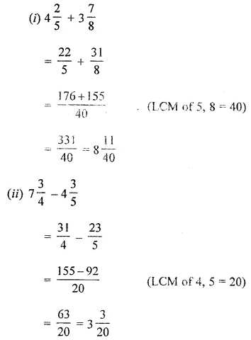 ML Aggarwal Maths for Class 8 Solutions Book Pdf Chapter 1 Rational Numbers Check Your Progress Q1.1
