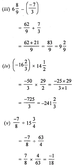 ML Aggarwal Class 8 Solutions Chapter 1 Rational Numbers Check Your Progress Q1.2