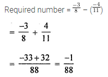 ICSE Understanding Mathematics Class 8 Solutions Chapter 1 Rational Numbers Check Your Progress Q2