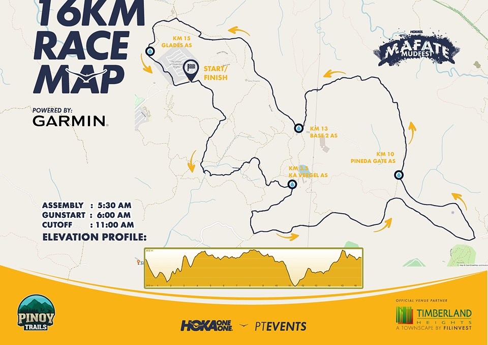 16K Mafate Mudfest Route