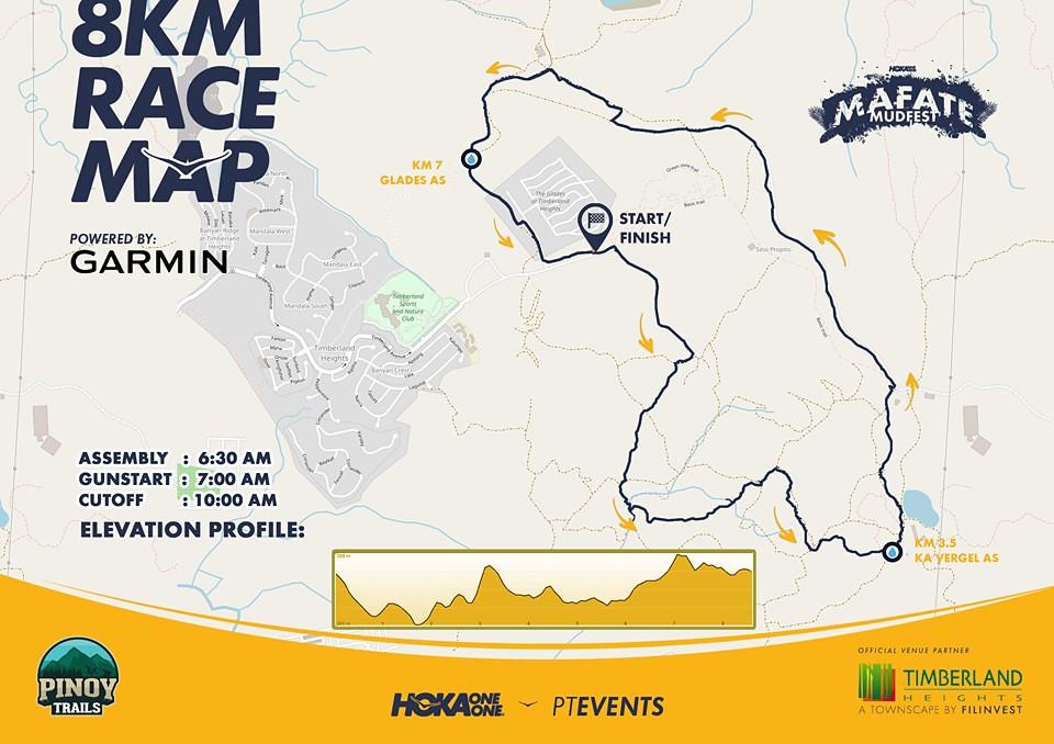 8K Mafate Mudfest Route