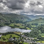 13. Juuli 2019 - 12:49 - A view overlooking the village and Ullswater from Glenridding Dodd. The Lady of the Lake steamer just departing. The marquee nearby was for the MacMillan Cancer Trust Ullswater Way sponsored walk. In December 2015 Glenridding was devastated with two floods in as many days.  The centrepiece is the Inn on the Lake with its 9 hole pitch and put golf course.